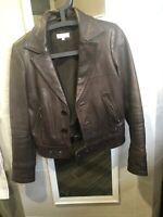Authentic Beautiful POLITIX Leather Jacket/Sz XS Worn Once Excellent Condition