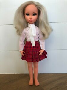 "1960s Furga Italy Doll 17"" Alta Moda ""S"" Girl SYLVIE in Bicicletta 8641 Skirt +"