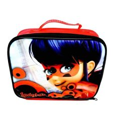 Miraculous Ladybug Children's School Insulated Lunch Bag Girls Boys Red