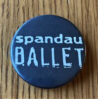 SPANDAU BALLET VINTAGE METAL PIN BADGE FROM THE 1980's POP NEW ROMANTIC