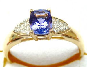 Harry Ivens IV Ring Gelbgold 375 Tansanit AAAA und Zirkone