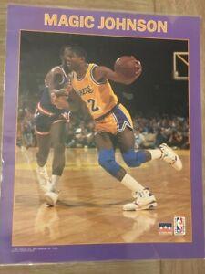 Magic Johnson Vintage Los Angeles Lakers Poster, 1991 Starline, Inc.