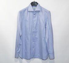 Men's Luigi Borrelli Napoli Dress Shirt Cotton 16 41 Blue Original Luxury
