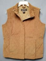 Vintage EDDIE BAUER Cotton Quilted Coudory Hunting / Shooting Vest Size Small