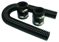 """24"""" Black Stainless Flexible Radiator Hose Kit W/ Billet Clamp Covers Chevy Ford"""