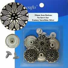 20 mm No-Sew Replacement Jean Tack Buttons (20S26)  6 CT.