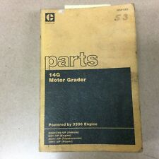Cat Caterpillar 14g Parts Manual Book Catalog Motor Grader Blade List 96u4298 Up