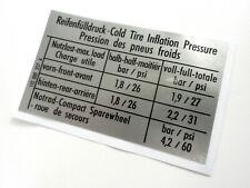 Mk1 Golf Tyre Pressure Sticker 155000257A (GTI) Vw