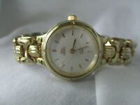 Timex Indiglo Water Resistant Gold Toned Elegant Bracelet Wristwatch WORKING!