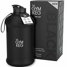 The Gym Keg Sports Water Bottle (2.2 L) Insulated Sleeve | Leakproof | Carry