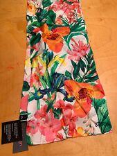 Echo Silk Scarf Tropical Flowers A40