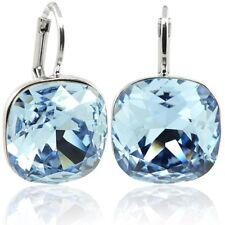 Ohrringe mit Kristalle Von Swarovski blau Silber NOBEL schmuck