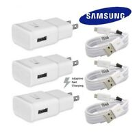 FOR Samsung Galaxy S7 S6 Note 4 5 Fast Charging Dual USB Car&Wall Charger+Cable
