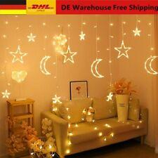 LED Mond Stern Lampe Lichterkette Ramadan Eid Dekoration Hochzeit Weihnachten DE