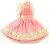 Barbie Vintage Fitting 1960's-1970's Clone Dress Pink & White