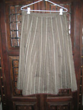 Cotton Blend A-Line Hand-wash Only Striped Skirts for Women