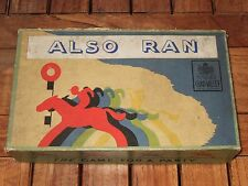 ALSO RAN Vintage Racing Game by Chad Valley. 1946. Very Rare. Fair copy.