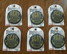 NOTRE DAME FIGHTING IRISH BIG TIME GAME BUTTONS PIN BEAT MICHIGAN STATE