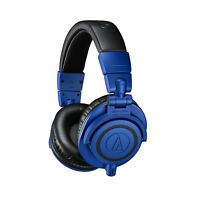 Audio-Technica ATH-M50x Closed-Back Over-Ear Dynamic Monitor Headphones Blue/Blk
