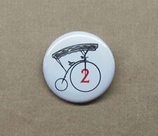 "The Prisoner Number 2 Bicycle Button 1.25"" Penny Farthing Pinback Badge # Two"