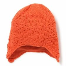 Bonnet Péruvien en Maille Crochet Orange Clémentine Marese Taille 45 cm Neuf