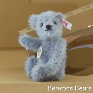 Steiff 2004 Club Renewal Gift Miniature Bear Pale Blue Mohair Big Box Ean 420429