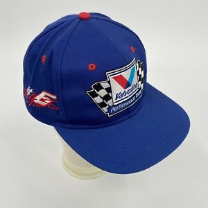 VTG 90's Mark Martin #6 Nascar Snapback Hat Cap Valvoline Performance Team Blue