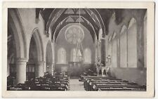 Oxfordshire; Uffington Church Interior PPC 1918 PMK to Mrs Tompson, Ceylon St