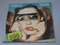 """999:   Found Out Too Late   1979  UK 7""""  MINT UNPLAYED WAREHOUSE FIND"""
