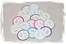 10x runde Anhänger/Etiketten m. Foto & Text z.b.für Gastgeschenke Taufe Hochzeit