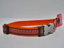 Hundehalsband - Red Dingo Bucklebone Verschluss - reflektierend - 40-60cm - NEU
