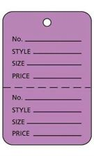 Large Lavender 2 Part Perforated Price Coupon Tags / 1000