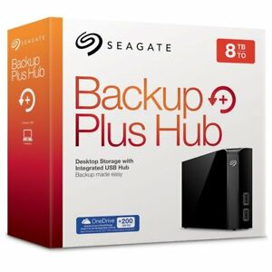 Seagate 8TB Backup Plus Hub USB 3.0 Desktop 3.5 Inch External HD for PC/Mac