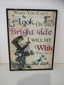 ALICE IN WONDERLAND A3 PRINT ADVENTURE QUOTE UNFRAMED HOME WALL ART PICTURE