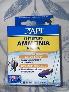 API Ammonia Test Strips Freshwater & Marine Aquarium Tank NH3 NH4 25 Strips