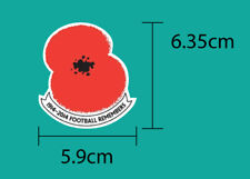SPECIAL POPPY 1914-2014 Football Remembers PU Patch FREE SHIPPING