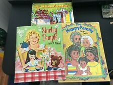 New ListingLot of Vintage Paper Dolls: Happy Family, My Doll Family, Shirley Temple
