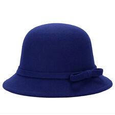 e110120c8094a Magick Women Lady Winter Wintage Wool Round Fedora Bow Cloche Derb Cap Hat  Warm