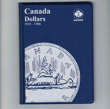 Uni-Safe Canadian Canada 1 Dollar Coin Collection Album Folder 1935-1986