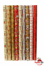 2x10m Christmas Wrapper Rolls Sanda Traditional Gift Wrapping Paper