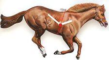 Horse Equestrian Design Wooden Clock Handmade In The UK