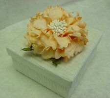 Peony Flower on Square Shape Gift Paper Box Party Supplies Wedding Favor Decor