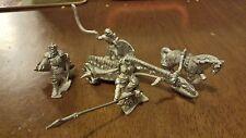 Grenadier Undead Chariot -  OOP - Unpainted - Metal - Missing 1 Horse