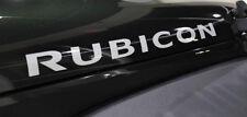 Set Of Jeep Wrangler Rubicon hood Truck Vinyl Stickers Decals CJ JK -silver