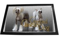 Fussmatte Chinese Crested Dog 80x60cm Chinesischer Schopfhund Fussabtreter