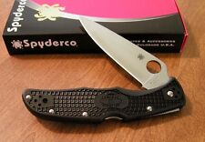 Couteau Spyderco Endura 4 Flat Ground Acier VG-10 Manche FRN Made Japan SC10FPBK