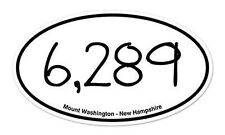 "Mount Washington New Hampshire Oval car window bumper sticker decal 5"" x 3"""