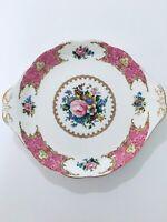 "Royal Albert Lady Carlyle fine china 10"" Handled Cake Plate"