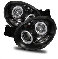 For Subaru Impreza 00-03 Bug Eye Black Angel Eye Projector Headlights Lamps