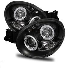 For Subaru Impreza 00-03 Bug Eye Black Angel Eye Projector Headlights Lamps